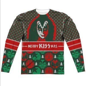 Kiss Kissmas Allover Print Sublimation Shirt